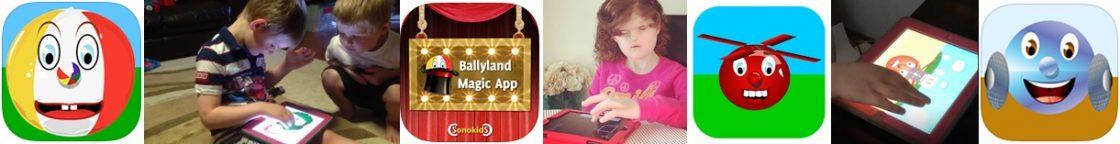 children using Ballyland game apps