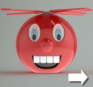 Ballicopter as 3D model